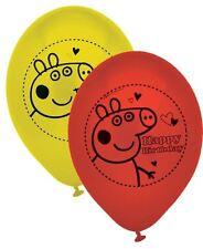 "10 x Peppa pig 9"" Latex balloons"
