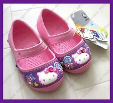 Kids' Creative Crocs Hello Kitty Candy Ribbons Jewel Flat Shoe girl toddler C6