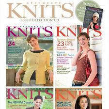4 Issues on CD: INTERWEAVE KNITS MAGAZINE 2008 Complete Shaping Tweeds Lace