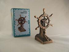 SHIPS WHEEL DIECAST PENCIL SHARPENER New Antique Finish Novelty Nautical