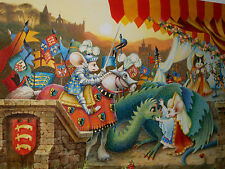 "RIP SQUEAK LTD. HUGE GICLEE PRINT ON CANVAS (91/595) ""DAWN OF THE FESTIVAL""!"