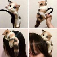 EG_ 3D SIMULATION LYING CAT GIRL HEADBAND HAIRBAND PARTY HEADDRESS HAIR HOOP STR