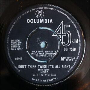 "HEINZ Don't Think Twice It's All Right UK 7"" Joe Meek RGM DB 7559 NMINT! 1965"