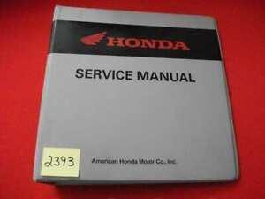 FACTORY ISSUED HONDA MOTORCYCLE SERVICE MANUAL 7- RING PROTECTIVE BINDER VGC