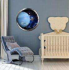 "24"" Porthole Space Window PLANET NEPTUNE #1 SILVER Wall Decal Sticker Graphic"