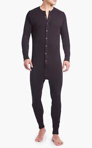 2(x)IST Essential Cotton Union Suit - Black/Size L