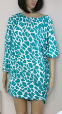 NWT Michael Kors Tunic Swim Coverup Giraffe Print Green Plus Size 1 X