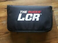 The Ruger LCR Factory Padded Pistol Pouch Zipper Case Black Nylon 10' x 6'