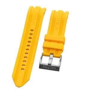Nautica Men's N19566G   A19566G BFD 100 Multi Yellow 24mm Original Watch Band