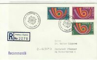 Cyprus 1973 Registered Double CEPT Cancels Europa Stamps FDC Cover Ref 27665