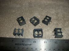 LOT OF TERMINAL BLOCKS 2 CONNECTIONS WITH SCREW WIRE ATTACHMENTS-PCB MOUNT! S