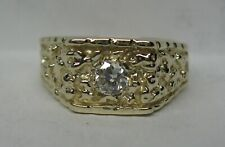 $2150 NEW MENS 10K SOLID GOLD .29CT. GENUINE DIAMOND NUGGET RING SIZED FREE!