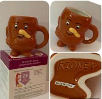 Actos Pharmaceuticals Promotion Ceramic Kidney Mug Anthropomorphic