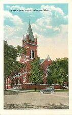 Mississippi, MS, Columbus, First Baptist Church 1920's Postcard
