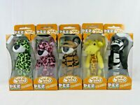 PEZ 2002 International Fantastic Wild Zoo Set 5 Plush Key Chain Clips Orig Boxes