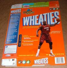 2005 MIAMI HEAT SHAQUILLE O'NEAL WHEATIES NBA BASKETBALL CEREAL BOX~LA LAKERS