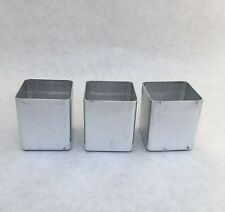 3 Square Votive Candle Molds NEW Seamless Aluminum