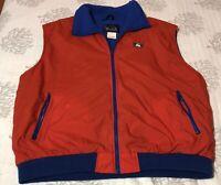 VTG Woolrich Vest Red Blue Vest Mens Size 2XL