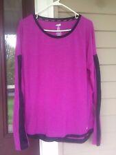 AVIA Women´s Purple Long Sleeve Loose Fit Athletic Shirt Sz. L EUC