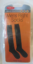 Travel Solutions Men's Black One Size FLIGHT SOCKS