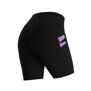 Damen Yoga Shorts Hotpants Hohe Taille Leggin Taschen Kurz Sporthose Laufhosen S