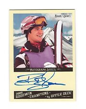 2009 UD Goodwin Champions Autograph Jeremy Bloom World Cup Olympic Skiing NFL