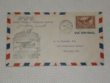 (A081) PILOT SIGNED 1ST FLIGHT COVER 26/1/38 PRINCE GEORGE TO GERMANSEN LANDING