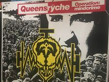 Queensrÿche Operation Mindcrime Authentic And Rare 1988 Promo Poster Version 2