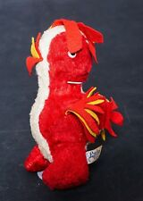 """SALE Vintage Lucky Toy Plush Red & white Chicken/Roster 9"""" Tall"""