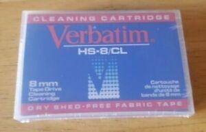 VERBATIM 8MM VIDEO8 HI8 D8 DIGITAL8 DATA8 HEAD CLEANING CLEANER CLEAN TAPE NEW