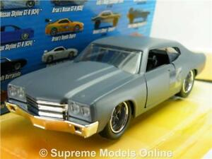 CHEVY CHEVELLE MODEL CAR FAST & FURIOUS DOM'S 1:32 SCALE JADA 97379 FILM K8Q