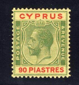 1924-28 Cyprus. SC#108. SG#117. Mint, Lightly Hinged, VF.