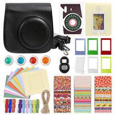 Deluxe Stylish Fun Accessory Kit for Fujifilm Instax Mini 8 Camera Black