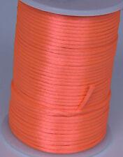 Orange 2MM Rattail Satin Cord Macrame Beading Nylon kumihimo String DIY