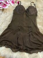 Unbranded brown padded underwired Camisole Top sleepwear nightwear size S cup A