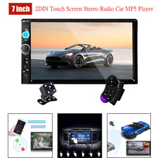 "7"" 2DIN Car HD MP5 Player Wireless Touch Screen Stereo Radio USB/FM/BT w/Camera"