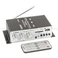 Lepai LP-A68 DC12V USB & FM Mini Car Power Amplifier+ IR Remote Controller