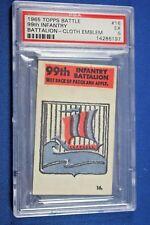 1965 Topps Battle Cards - Cloth Emblem #16 - 99th Infantry Battalion - PSA Ex 5