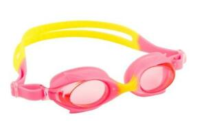 Maru Dolphin Anti Fog Junior Kids Goggles - Pink / Yellow Age 3 - 9 Years