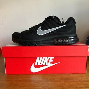 NEW NIKE AIR MAX 2017 MEN'S RUNNING SHOE 849559 001 BLACK/ANTHRACITE ALL SIZES