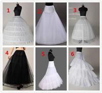A Line 6 Hoop White Black Petticoat Underskirt Ball Gown Crinoline Slips Tulle