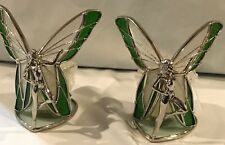 STAINED GLASS 2- Piece Standing Green Fairies  [9044-C]
