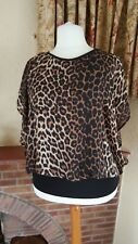 BLACK BROWN ANIMAL PRINT BATWING TOP FROM STAR JULIAN MACDONALD  18   - SUMMER