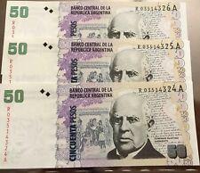 ARGENTINA REPLACEMENT One Note Of 50 PESOS Domingo Sarmientos UNC