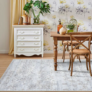Presale Large Floor Rug Gold Grey Soft Distressed Lounges Carpet Mat 200x290cm