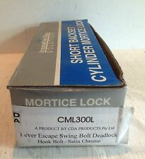 Short Backset Mortice Lock, Lever Escape Swing Bolt Deadlock, CML300L (5801)