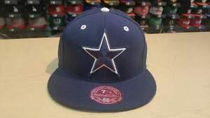 Mitchell & Ness NFL Dallas Cowboys Classic Team Logo Navy Fitted Cap Hat