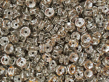50 Rhinestone Rondelle Spacer Beads (BD27)