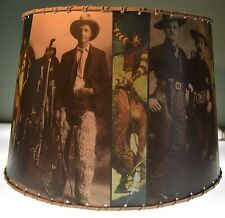 "Cowboy, Lamp Shade 8"" x 10"" Clip Top, Western Decor"