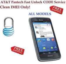 ATT FAST FACTORY UNLOCK CODE SERVICE PANTECH AT&T